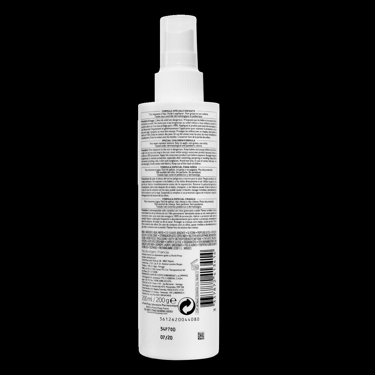 La Roche Posay ProduktSide Sol Anthelios Dermo Pædiatri Spray Spf50