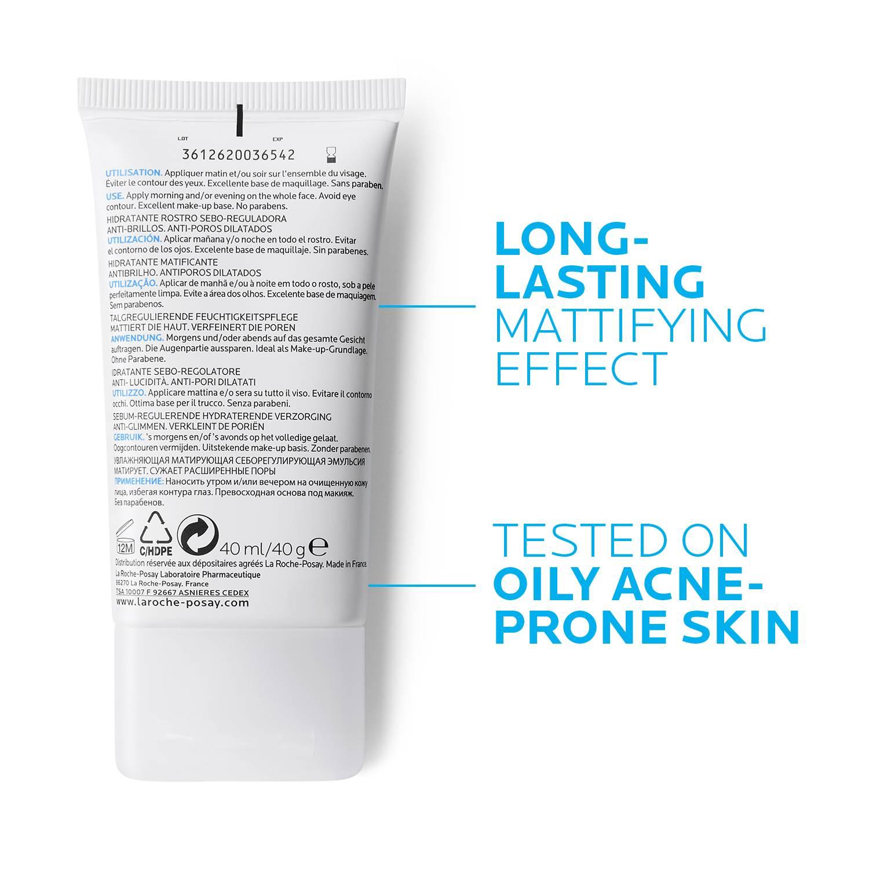 La Roche Posay ProduktSide uren hud Effaclar Mat Sebo Regulerende 40ml 333