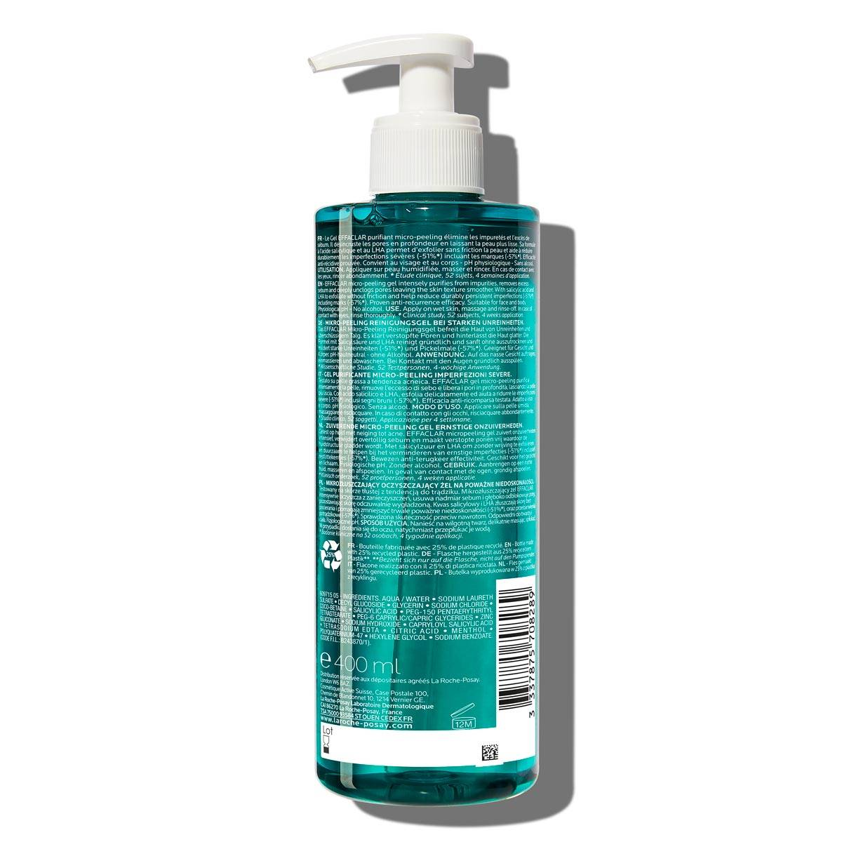 Effaclar Micro Peeling Rensende Gel 400ml 2% salicylsyre Fedtet hud BSS