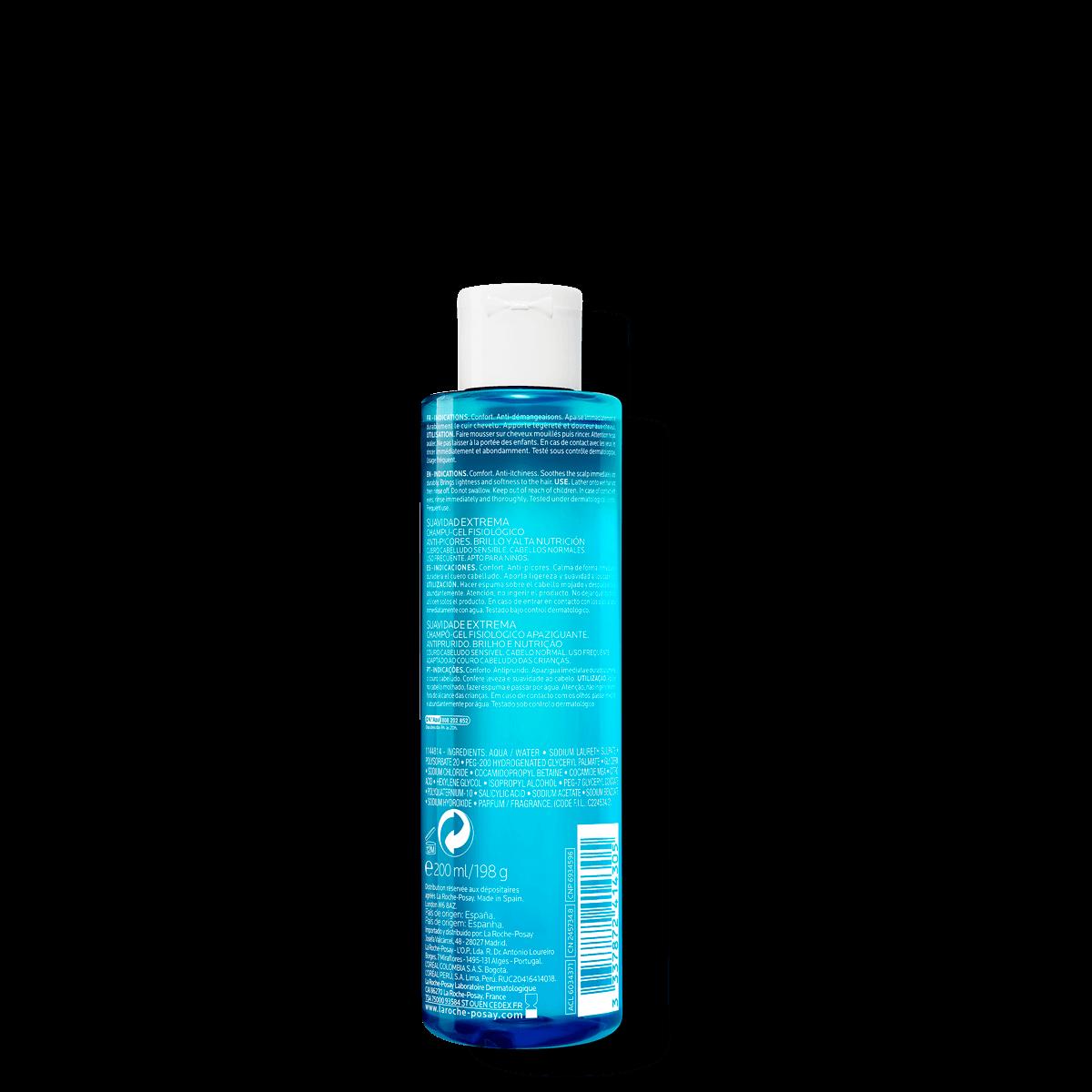 La Roche Posay ProduktSide Kerium Ekstra Nænsom Gelshampoo 200ml 33378