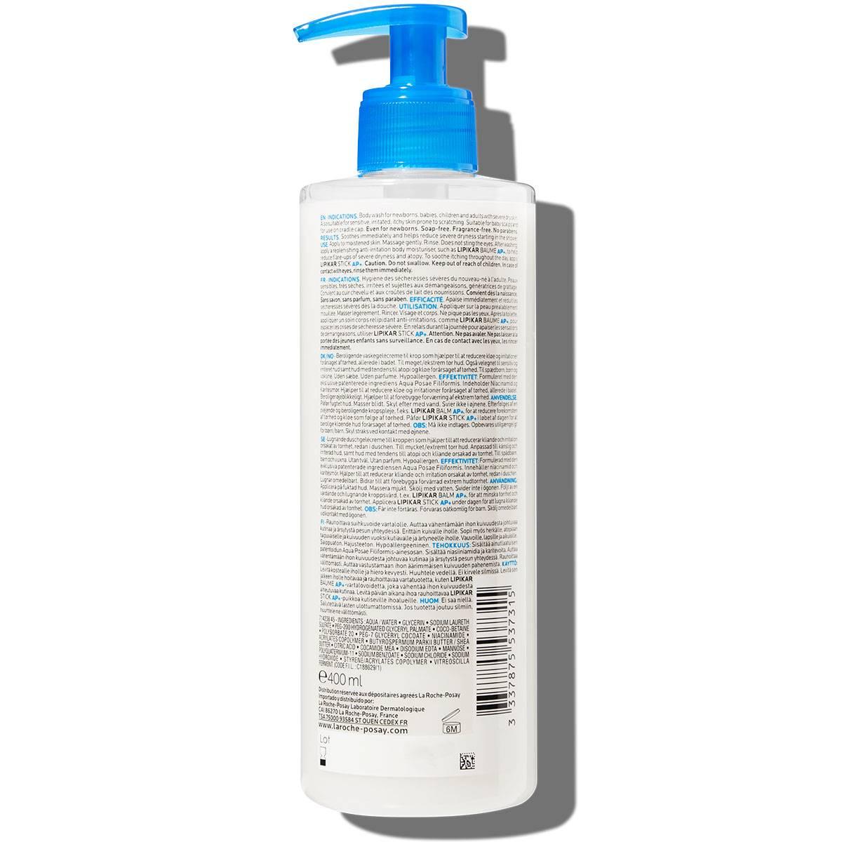 La Roche Posay ProduktSide Tendens til atopi Lipikar Syndet AP 400ml 333787553731