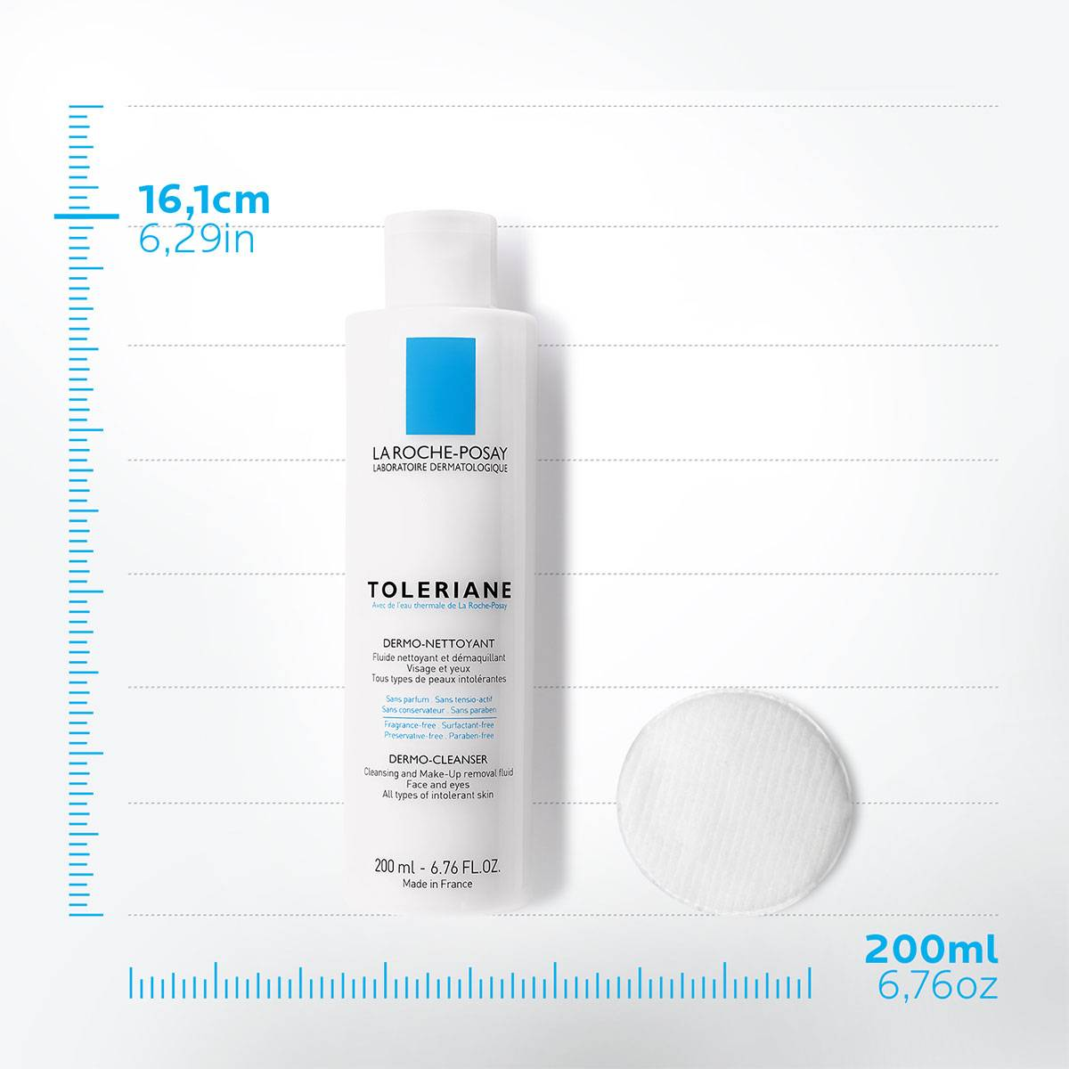 La Roche Posay ProduktSide Sensitiv Tendens til allergi Toleriane Dermo Rensevand